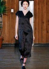 Прямое платье атласное