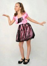 Коктейльное платье для девочки с юбкой баллон