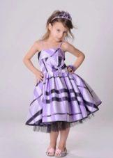 Коктейльное платье для девочки в полоску