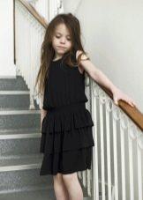 Коктейльное платье для девочки черное