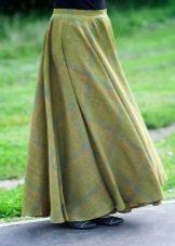 Льняная коническая юбка