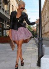 Коническая юбка из тафты