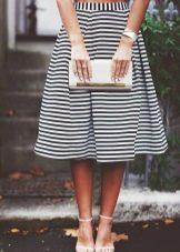 Хлопковая коническая юбка