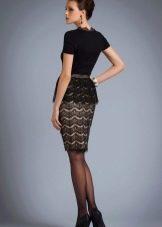 кружевная юбка-карандаш на каждый день