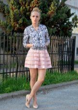 Мини юбка для лета и летняя ветровка