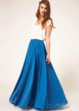 Струящаяся юбка в пол для лета