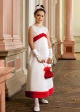 Новогоднее платье для девочки с завышенной талией