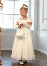 Новогоднее платье для девочки в стиле ампир в пол