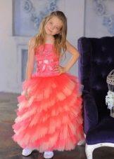 Новогоднее платье для девочки многослойное