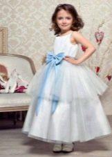 Новогоднее пышное платье Снежинка для девочки
