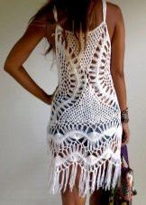 Вязаное платье с бахромой