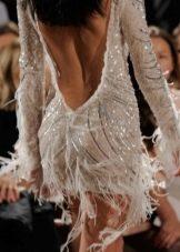 Вечернее платье с бахромой