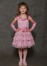 Вязаное выпускное платье для девочки 5 лет
