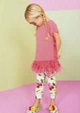 Летнее платье-туника для девочки 5 лет