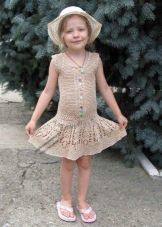 Вязаное летнее платье для девочки 5 лет