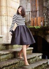 пышная юбка-миди в стиле кэжуал