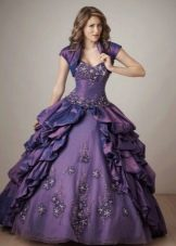 Шикарное фиолетовое бальное платье для девочки