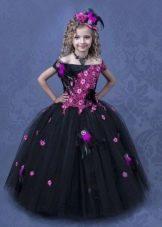 Шикарное черное бальное платье для девочки