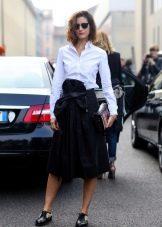 черная спортивная  юбка-миди