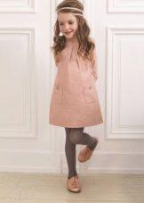 Зимнее розовое платье для девочек