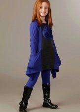 Зимнее платье из трикотажа для девочек