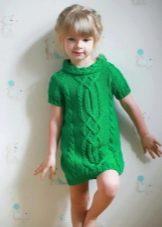 Зимнее вязаное платье для девочек