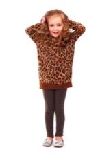Зимнее платье-свитер с принтом для девочек