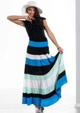 юбка с широкими  цветными полосками