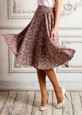 элегантная  юбка на резинке