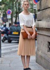 Шифоновая юбка плиссе ниже колена