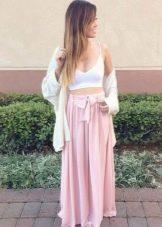 Длинная юбка с бантом