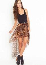 Шифоновая юбка со шлейфом