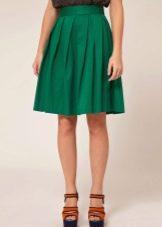 сколько ткани надо на юбку полусолнце до колен