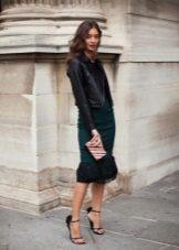 Черный пиджак с платьем фото