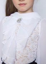 2b00612b0d4 Нарядные блузки украшаются большим количеством самых разнообразных  декоративных элементов  жабо