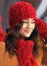 шапка с узором коса 83 фото с тенью с градиентом с объемными косами