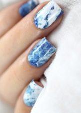 Мрамор на ногтях пошагово гель-лаком