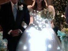 свадебное платье с подсветкой - реальное фото