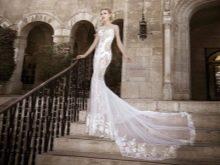Свадебное платье кружевное прозрачное