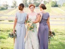 Платья лавандовых оттенков на свадьбе
