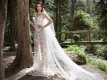 Кружевное откровенное свадебное платье от Henika