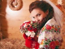 Свадебный образ невесты в русском стиле