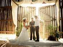 Свадебная церемония в стиле рустик
