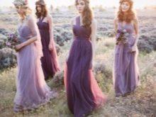 Лавандовое платье для подружек невесты
