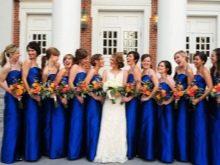 Синие платья для подружек невесты