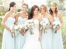 Светло-голубые платья для подружек невесты