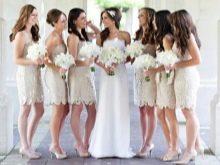 Бежевые платья для подружек невесты