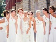 Белые платья для подружек невесты