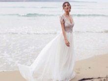 Свадебное платье от Анны Кэмпбел 2016 с декором на лифе
