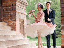 Свадебное платье в стиле Одри Хепберн